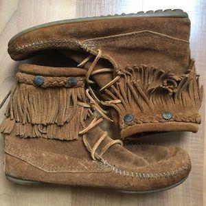 Minnetonka Ankle Fringe Boot